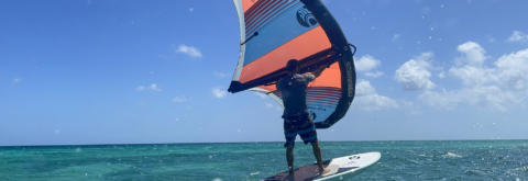 Wing foiling on our amazing blue waters